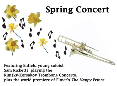 Trombone with Spring Flowers